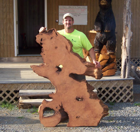 Wood Slabs for Rustic Furniture - Chainsaw Carved Wood Signs
